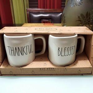 "Rae Dunn Kitchen - Rae Dunn ""Thankful"" & ""Blessed"" Mug Set"